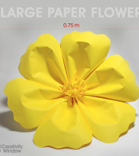 yellow-large-paper-flower